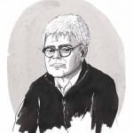 """""""Überleben Today"""". Jürgen Werner im Gespräch. Illustration Ines Haver"""