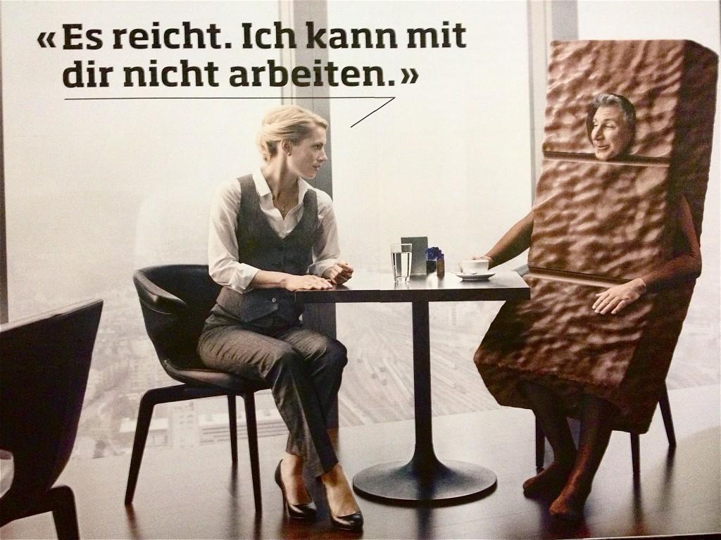 Werbeplakat in Zürich