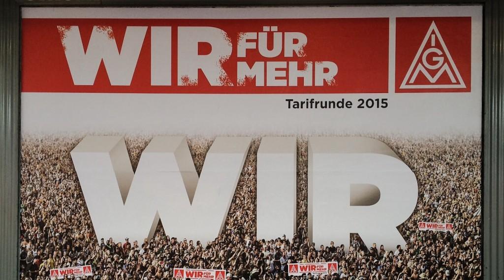 Wir für mehr Ich: Die Gewerkschaft mobilisiert die Massen