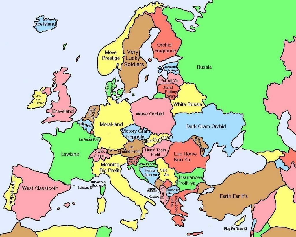 Märchenland Europa, gezeichnet von Amazing Maps